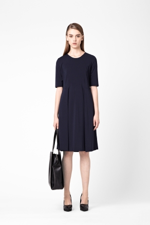 Cos Side Pleated A-line Jersey Dress
