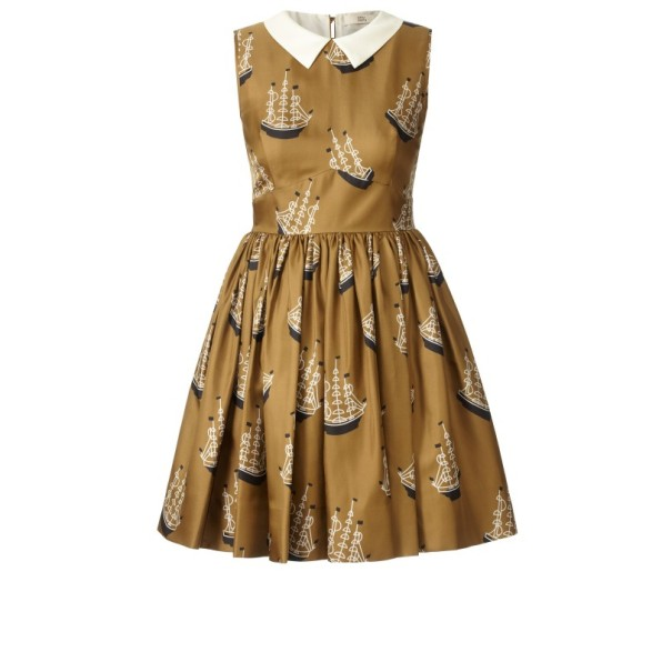 Orla Kiely Around the World Print Silk Twill Dress