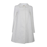 White Swing Baby Doll Coat with pockets @420